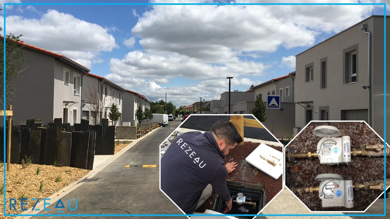 Individualisation de compteurs eau froide avec module radio-relève dans le lotissement Latitude 40 sur la commune de Jonage (Rhône)